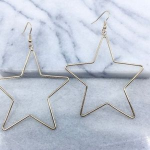 Jewelry - Gold Start Drop Earrings